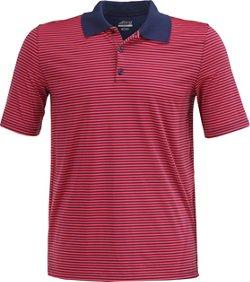 BCG Men's Golf Mini Stripe Tru-Wick Short Sleeve Polo Shirt
