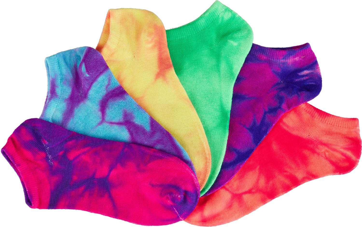 BCG Women's True Bright Tie-Dye Fashion Socks 6 Pack - view number 3