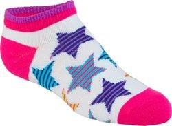 BCG Girls' Hippie Low-Cut Socks 6 Pack