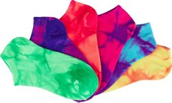 BCG Girls' True Bright Tie-Dye Low-Cut Socks 6 Pack