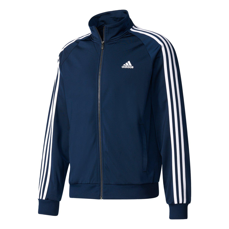 8a80fe6058057 adidas Men's Essentials 3-Stripe Tricot Track Jacket   Academy
