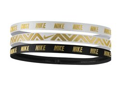 Nike Women's Metallic Hair Bands 3-Pack