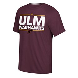 adidas Men's University of Louisiana at Monroe Sideline Pigskin T-shirt