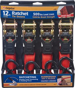 CargoLoc 12' Ratchet Tie-Downs 4-Pack