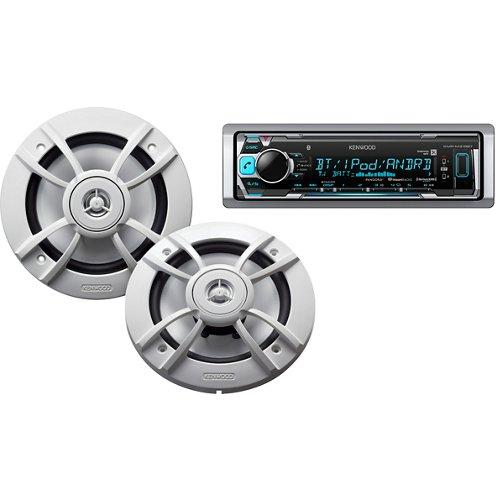Kenwood Marine Motorsports 200W Digital Media Receiver with Two 6-1/2' Speakers