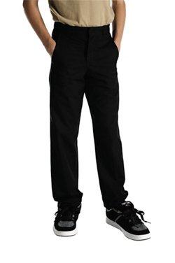 Dickies Boys' Straight Leg Flat Front Husky Uniform Pant