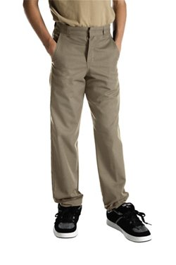 Dickies Boys' Straight Leg Flat Front Husky Uniform Pant