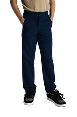 Dickies Boys' Classic Fit Straight Leg Flat Front Pant