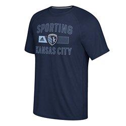 adidas Men's Sporting Kansas City Forward Ultimate climalite Short Sleeve T-shirt