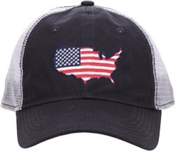 Academy Sports + Outdoors Men's Big USA Trucker Hat