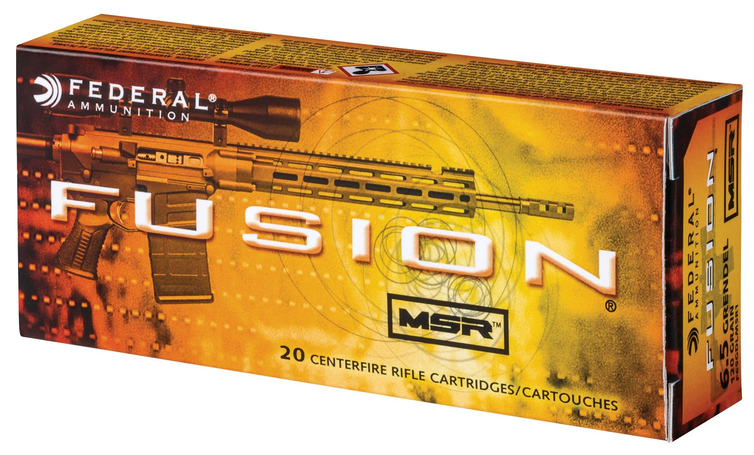 Fusion MSR 6.5mm Grendel 120-Grain Soft-Point Centerfire Rifle Ammunition