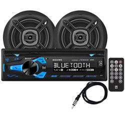 Dual 200 w Marine CD Receiver with Two 6-1/2 in Speakers