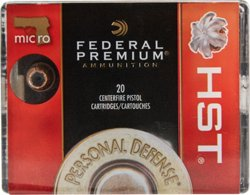 Federal Premium HST 9mm Luger Micro 150-Grain Pistol Ammunition