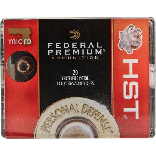 Federal Premium HST 9mm Luger Micro 150-Grain Pistol Ammunition