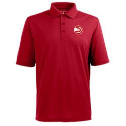 Antigua Men's Atlanta Hawks Pique Xtra-Lite Polo Shirt