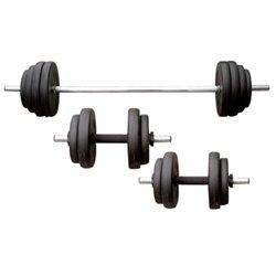 Sunny Health & Fitness 100 lbs Vinyl Weight Set