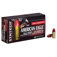 Federal® American Eagle® Syntech™ Training 9mm Luger 115-Grain Ammunition
