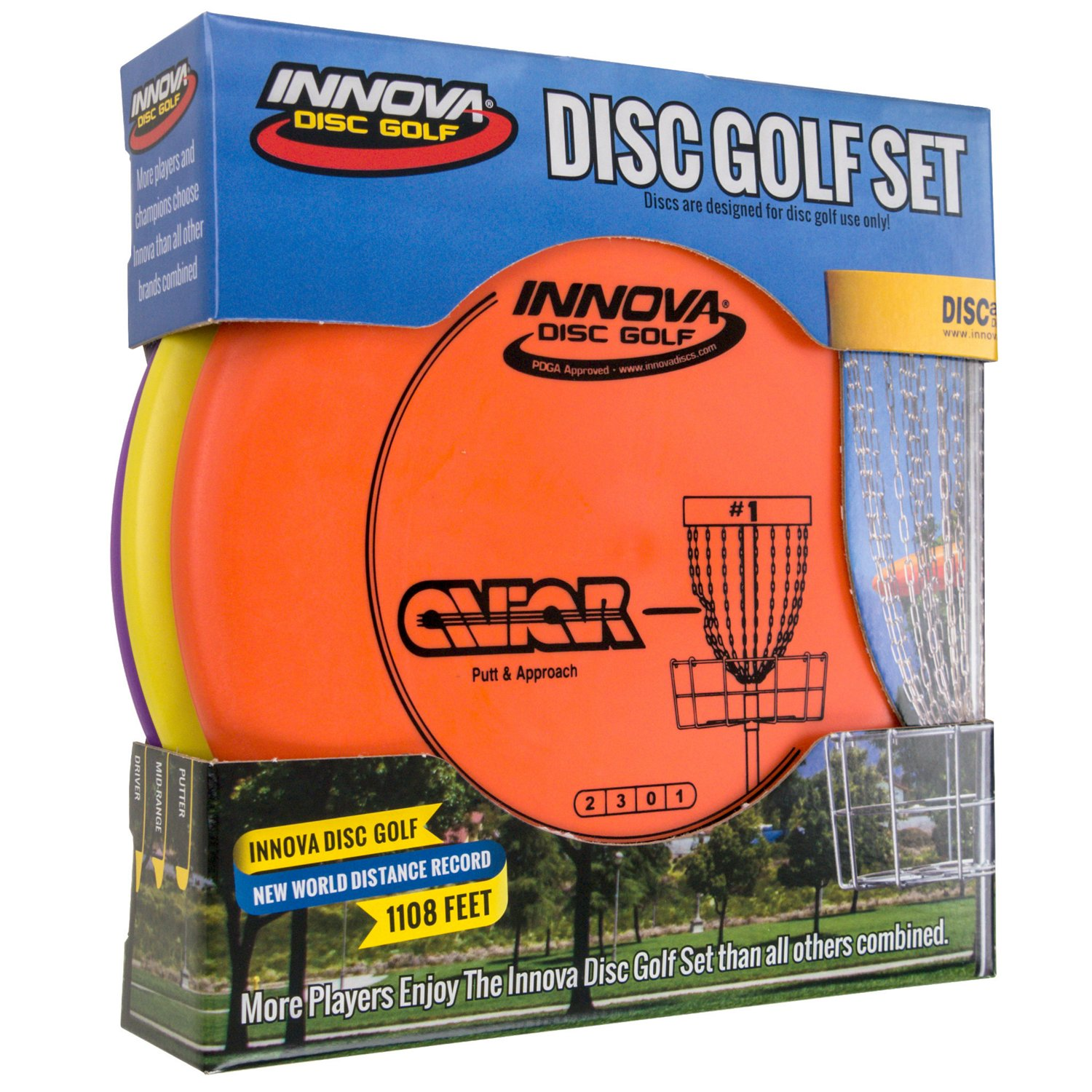 Display product reviews for Innova Disc Golf DX Stack Pack 3-Disc Disc Golf Set