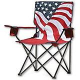 Quik Shade US Flag Print Folding Camping Chair