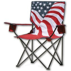 US Flag Print Folding Camping Chair