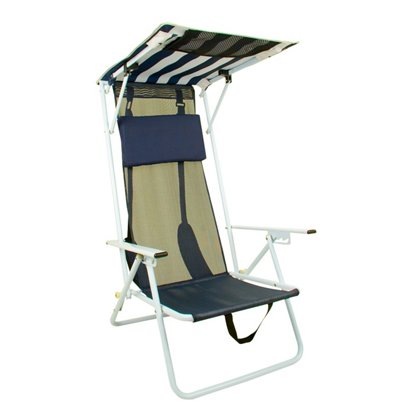 Shade Canopy Folding Beach Chair Chairs Hover Click To Enlarge