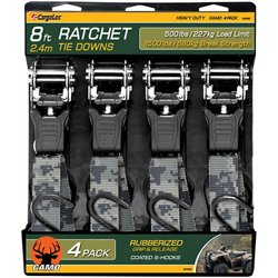 CargoLoc Camo Web Ratchet Tie-Downs 4-Pack