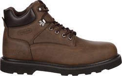 Men's Tradesman Steel Toe Lace Up Work Boots