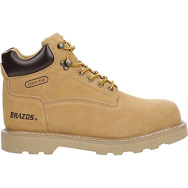 980f42f68d8 Brazos Men's Tradesman Steel Toe Lace Up Work Boots