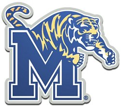Stockdale University of Memphis Metallic Auto Emblem