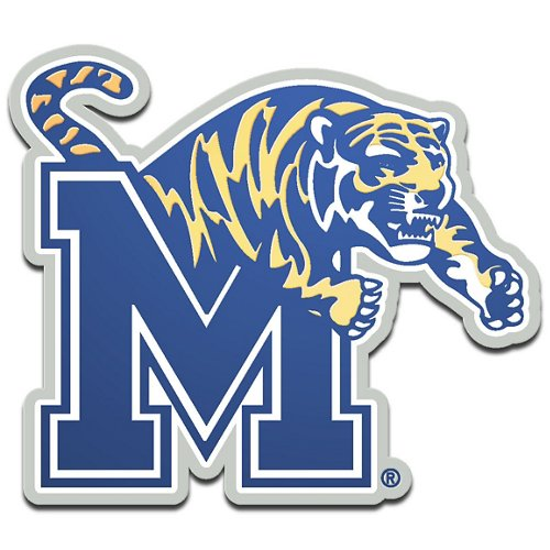 Stockdale University of Memphis Metallic Auto Emblem