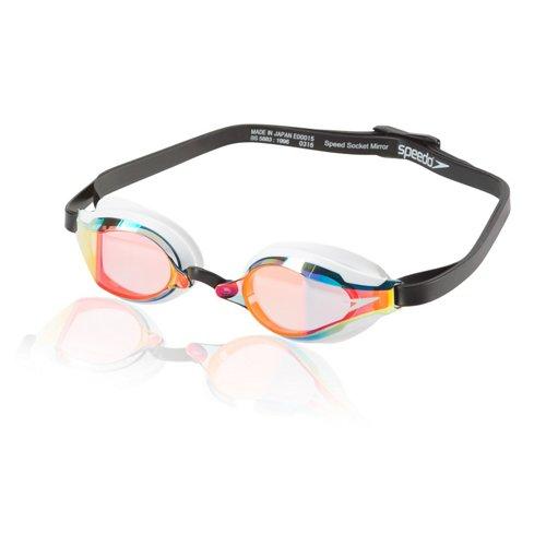 Speedo Adults' Speed Socket 2.0 Mirrored Swim Goggles