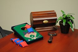 Wild Sports Atlanta Braves Tabletop Toss Game