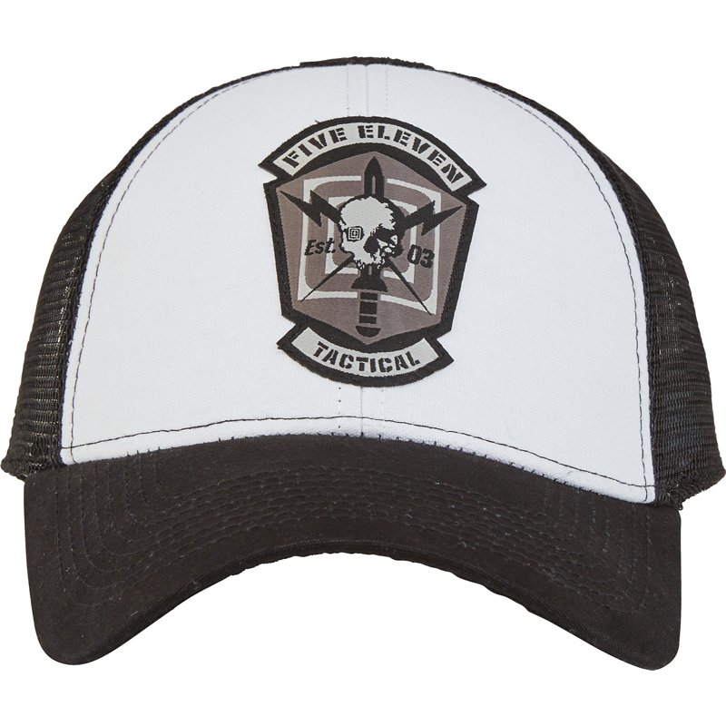 5.11 Tactical Men's Skull Meshback Cap White - Mns Huntg/Fishg Headwear at Academy Sports thumbnail