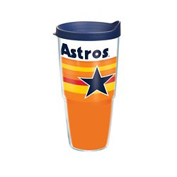 Houston Astros Retro 24 oz Tumbler with Lid