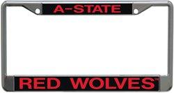 Stockdale Arkansas State University Acrylic License Plate Frame