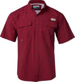 Magellan Outdoors Men's Laguna Madre Solid Short Sleeve Fishing Shirt