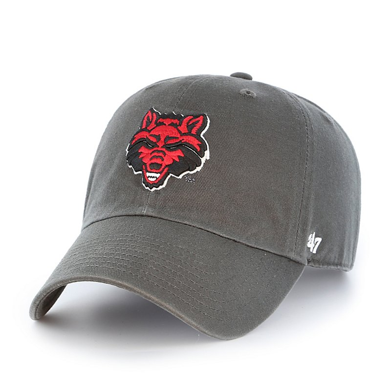 The '47 Arkansas State University Cleanup Cap features the team's logo and an adjustable closure. Available at Academy Sports + Outdoors.