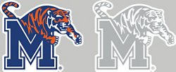 "Stockdale University of Memphis 4"" x 7"" Decals 2-Pack"