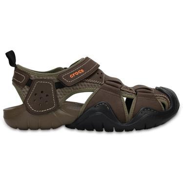Swiftwater SandalsAcademy Men's Crocs Leather Fisherman 1KTlFJc