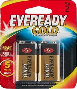 Eveready Gold 9 v Alkaline Batteries 2-Pack