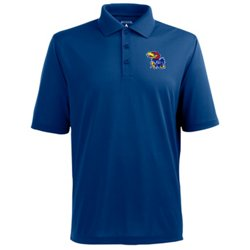 Antigua Men's University of Kansas Pique Xtra-Lite Polo Shirt