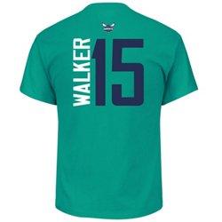 Majestic Men's Charlotte Hornets Kemba Walker 15 Vertical Name and Number T-shirt