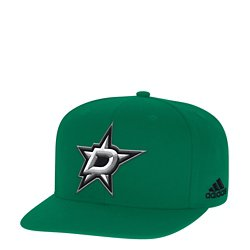 adidas Men's Dallas Stars Basic Logo Flat Brim Snapback Cap