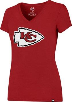 '47 Kansas City Chiefs Women's Splitter V-neck T-shirt