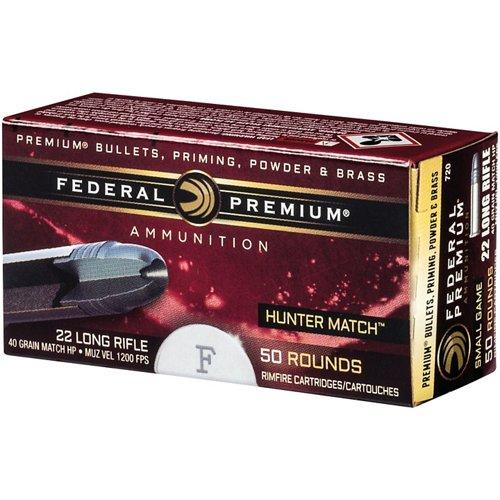 Federal Premium Hunter Match .22 LR 40-Grain Rimfire Rifle Ammunition