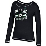 adidas Women's Dallas Stars Middle Stripe Banner Long Sleeve T-shirt