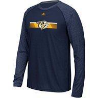 adidas Men's Nashville Predators Authentic Resurface Contrast Long Sleeve T-shirt
