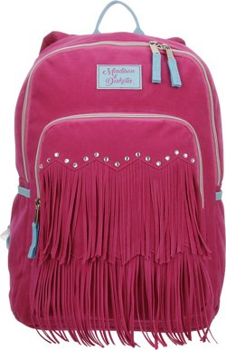 Madison & Dakota Girls' Ultrasuede Fringe Backpack