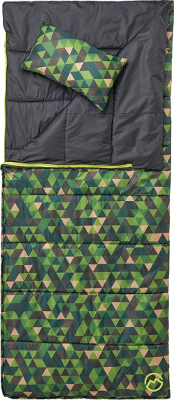 Magellan Outdoors Kids' 45 Degree F Reversible Sleeping Bag with Pillow
