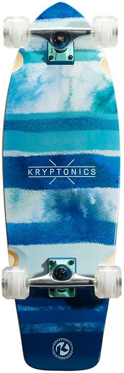 Kryptonics Super Fat Cruiser Blue Fish 30.5 in Skateboard